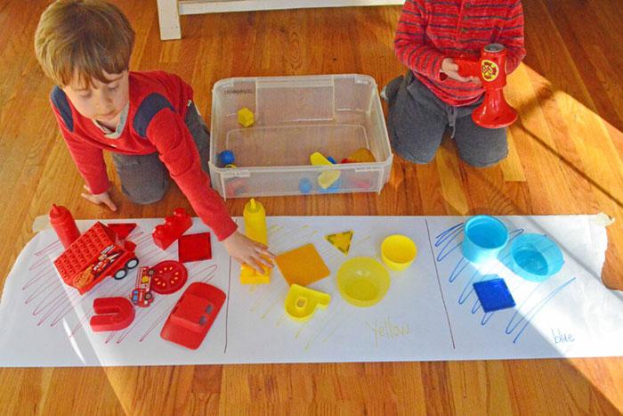 اموزش رنگها به کودکان 3 ساله